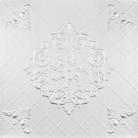 Tavan fals decorativ, polistiren extrudat, C2059, clasic, alb, 50 x 50 x 0.3 cm