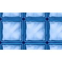 Autocolant vitraliu caramida sticla, albastru, 0.45 x 15 m