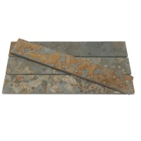 Mozaic ardezie multicolora, interior / exterior, 7 x 30 cm