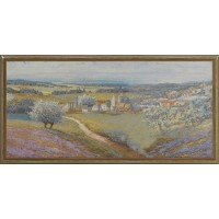 Decor faianta baie / bucatarie Odesa Monet Noce lucios 25 x 50 cm