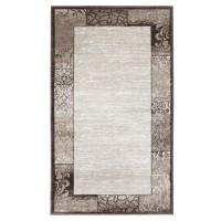 Covor living / dormitor Carpeta Delta 61801-43231 polipropilena heat-set dreptunghiular maro 60 x 110 cm