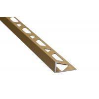 Profil aluminiu terminatie gresie si faianta, SET S51, drept, auriu, 10 x 2500 mm