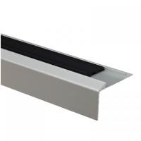 Profil aluminiu pentru treapta, cu banda antiderapanta, SET S38 argintiu 46 mm 2.7 m