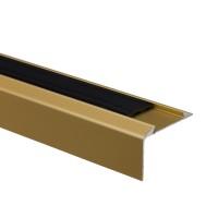 Profil aluminiu pentru treapta, cu banda antiderapanta, SET S38 auriu, 0.93 m