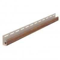 Profil margine J Vox SVP-15 pentru lambriu exterior, PVC, stejar auriu, 3.05 m