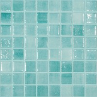 Mozaic din sticla 503, mix verde caraibe, interior / exterior, 31.7 x 31.7 cm