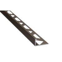 Profil aluminiu terminatie gresie si faianta, SET S51, drept, olive, 10 x 2500 mm