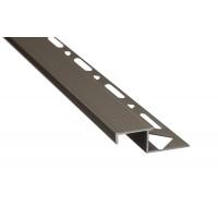 Profil aluminiu pentru treapta, incorporabil, SET S58 olive, 2.5 m