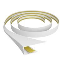 Profil universal B603 din PVC, alb gri, 3 m