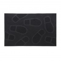Covor intrare exterior RT Pinmats RT311, cauciuc, negru, dreptunghiular, 60 x 40 cm