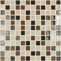 Mozaic din sticla 831/835/836, mix maro, interior / exterior, 31.7 x 31.7 cm