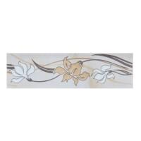 Brau faianta Loft floral 2502-0912 bej mat 6 x 20 cm