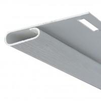 Profil de finisare Vox SV-14 pentru lambriu exterior, PVC, alb, 3.05 m