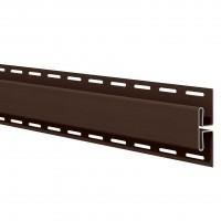 Profil imbinare H Vox SV-18, pentru lambriu exterior, PVC, maro, 3.05 m