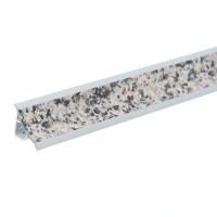 Plinta PVC pentru blat baie sau bucatarie, Korner, granit, cu margini flexibile cauciucate, 23 mm, 3 m