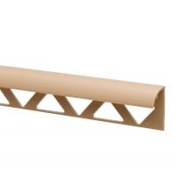 Profil PVC margine gresie si faianta, SET 31318, uni, crem nisip, 10 mm, 2.5 m