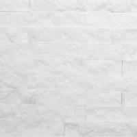 Mozaic din marmura scapitat alb, interior / exterior, 5 x 10 cm