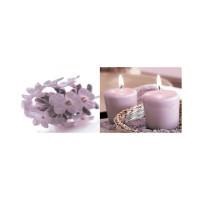 Decor faianta baie 10 alb+lila lucios 20 x 50 cm