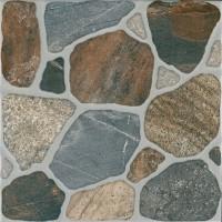 Gresie exterior / interior portelanata antiderapanta Terastone 6035-0189, mata, imitatie piatra, 33 x 33 cm