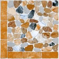 Gresie decor exterior / interior portelanata antiderapanta Geostone 90691 maro, mata, imitatie piatra, 45 x 45 cm
