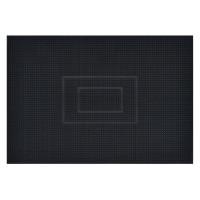 Covor intrare exterior Fagure , cauciuc, negru, dreptunghiular, 75 x 45 cm