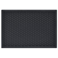 Covor intrare exterior Cristal , cauciuc, negru, dreptunghiular, 55 x 36 cm
