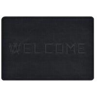 Covor intrare exterior Welcome , cauciuc, negru, dreptunghiular, 50 x 35 cm
