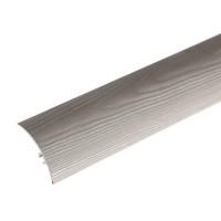 Profil aluminiu de trecere, diferenta de nivel, suruburi ascunse, gri deschis, 0.9 m