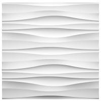 Panou decorativ 3D Harp, ipsos, 60 x 60 cm