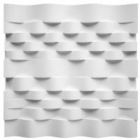 Panou decorativ 3D Wind, ipsos, 60 x 60 cm