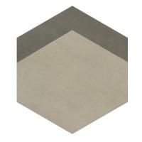 Gresie decor exterior / interior portelanata Provenza Hexagon bej, mata, 33 x 38 cm
