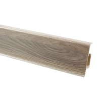 Plinta parchet PVC Vilo Esquero 603, canal cablu, platan californian, 2500 x 66.6 x 21.9 mm