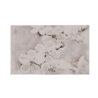 Decor faianta baie / bucatarie Gryfin Flower Light Grey lucios 25 x 40 cm