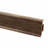 Plinta parchet PVC 10456-6011 canal nuc walnut 2500 x 52 x 22 mm