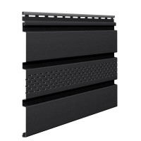 Sageac Infratop Vox SV-07, perforat, PVC, graphite, 2.7 m