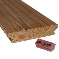 Profil pin termotratat, interior/exterior, cu striatii, 3000 x 100 x 21 mm