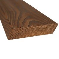 Profil pentru balustrada din lemn pin termotratat, 100 x 26 mm, 3 m
