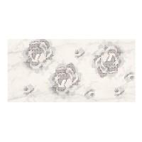 Decor faianta baie / bucatarie Textile Flower WD430-001, alb, 29.7 x 60 cm