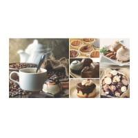 Decor faianta pentru bucatarie, Sweet Dreams OD346-004, multicolor, 29.7 x 60 cm