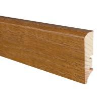Plinta parchet lemn P50, stejar carmelian, 2200 x 60 x 16 mm