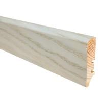 Plinta parchet lemn P50, stejar daffodil, 2200 x 60 x 16 mm