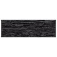 Placa fatada exterior Opalo Valira, mata, neagra, 16.5 x 50 cm