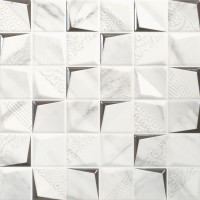 Decor faianta baie / bucatarie Mozaic Atlas Tubqal alb, lucios, 30 x 30 cm