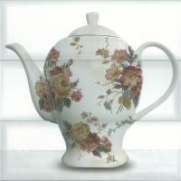 Decor faianta bucatarie Tea 03 White lucios alb 30 x 30 cm