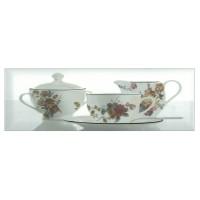 Decor faianta bucatarie Tea 03 White (A) lucios alb 10 x 30 cm