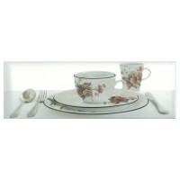 Decor faianta bucatarie Tea 3 White (B) lucios alb 10 x 30 cm