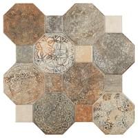Gresie decor interior, universala, Silex, mata, maro, PEI 3, 45 x 45 cm