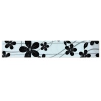 Brau faianta Ege Black semilucios negru 7.5 x 40 cm