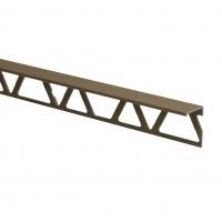 Profil aluminiu terminatie gresie si faianta, SET, drept, olive, 12 x 2500 mm