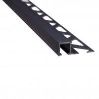 Profil aluminiu de colt exterior pentru gresie si faianta, patrat, gri, 10 x 2700 mm